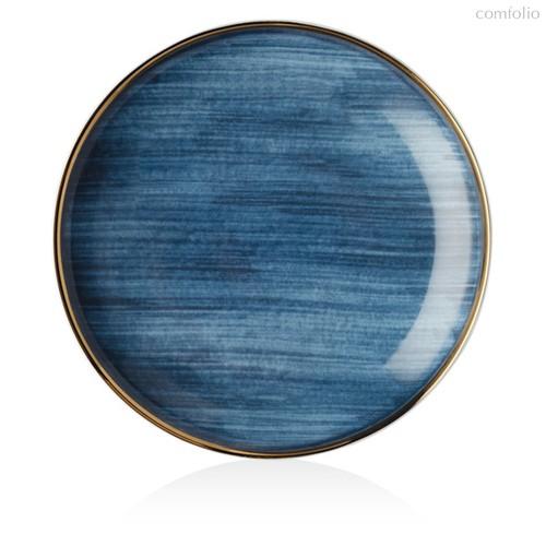 "Тарелка закусочная Lenox ""Аззурро"" 21см (синяя) - Lenox"