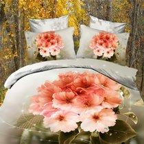 Комплект постельного белья RS-146, цвет серый, размер Евро - Famille