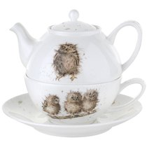 "Набор Эгоист Royal Worcester ""Забавная фауна"", (чайник и чашка с блюдцем), 300мл, костяной фар - Royal Worcester"