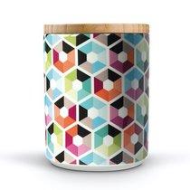 Банка фарфоровая с деревянной крышкой Remember, Hexagon, 1,25 мл - Remember