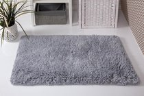 "Коврик для ванной ""MODALIN"" с бахромой BOLIV 50x80 см 1/1, цвет серый, 50x80 - Bilge Tekstil"