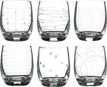 Набор стаканов из 6 шт. КЛАБ МИКС 300 мл ВЫСОТА 10 см (КОР 8Набор.) - Crystalex