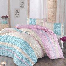 Постельное белье Ranforce Monica, цвет ментоловый, размер Евро - Altinbasak Tekstil