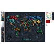 Карта Travel Map Letters World - 1DEA.me