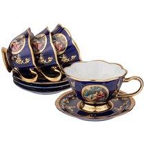 Чайный Набор На 4 Персоны 8 Пр. Lefard Влюбленная Пара Кобальт 150 мл - Jinding