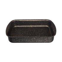 Форма Agness Премиум Черное Золото Прямоугольная 25Х19X5,5 см, Трехслойное Покр Granit, Pfoa Free - ISFA Metal Tekstil
