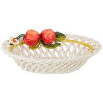 Изделие Художественно-Декоративное Блюдо Овальное С Яблоками 31x22 см Высота 11 см - Ceramiche d'Arte F.L.