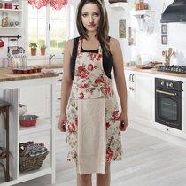 Фартук кухонный Karna с салфеткой 30x50, цвет кремовый - Karna (Bilge Tekstil)