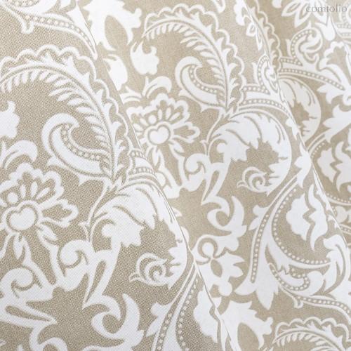 Ткань лонета Арабеска ширина 280 см/ 1839/1, цвет сепия - Altali