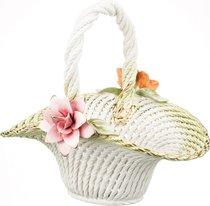 Изделие Декоративное Корзина С Цветами 34x28x32 см - Lanzarin Ceramiche