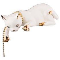Статуэтка Кошка С Цепочкой Длина 28см Высота 9см - Jinding