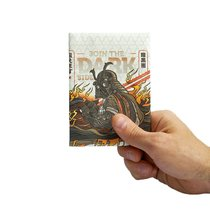 Обложка на паспорт New Darkside, белая - New Wallet