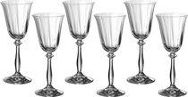Набор бокалов для вина из 6 шт. АНЖЕЛА ОПТИК 185 МЛ ВЫСОТА=20 СМ (КОР=8Набор.) - Crystalex