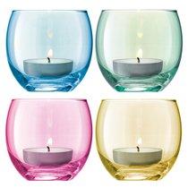 Набор из 4 подсвечников для чайных свечей Polka пастель - LSA International