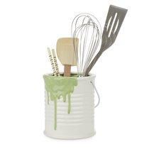 Подставка для кухонных принадлежностей Painty зеленая, цвет зеленый - Balvi