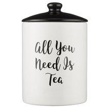 Емкость для хранения чая Carnaby Script 15,5х9,5 см - Price & Kensington