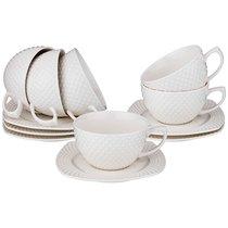 Чайный Набор На 6 Персон Диаманд Квадрат 12 Пр. 350 мл - Shunxiang Porcelain