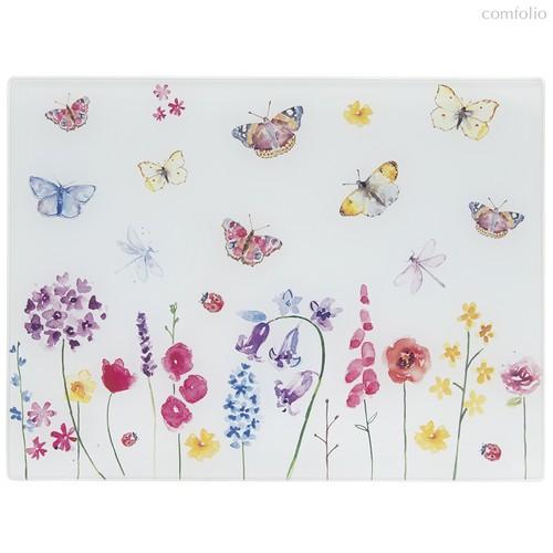 Доска стеклянная 40х30см Бабочки в саду - Lesser & Pavey