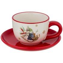 Чайный Набор На 1 Персону Зимняя Забава 2Пр. 250 мл - Huachen Ceramics