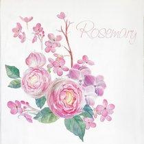 Ткань купон Шарм розмари, в рулонах, арт. 8365/35, цвет розовый - Altali
