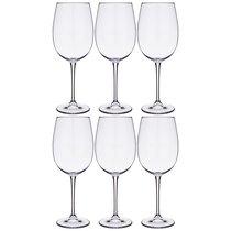 Набор бокалов для вина из 6 шт. ESTA/FULICA 640 мл ВЫСОТА 25,5 см (КОР 1Набор.) - Crystalite Bohemia