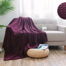 "Плед Cleo ""Royal plush"" велсофт полуторный 150*200 150/004-RP, цвет бордовый, 150 x 200 - Cleo"