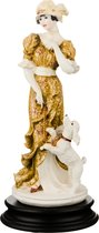 Статуэтка Девушка С Пуделем Высота 26 см - P.N.Ceramics