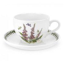"Чашка для завтрака с блюдцем Portmeirion ""Ботанический сад.Наперстянка"" 500мл - Portmeirion"
