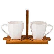 Чайный Набор На 2 Персоны 4Пр. 23x11,5 см 220 мл На Подставке Высота 14 см - Yinhe Ceramics