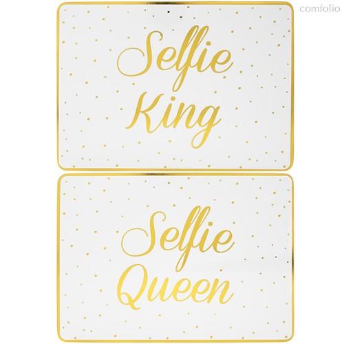 Подставки на пробке средние Селфи Король с королевой 30х23см (2шт) - Lesser & Pavey