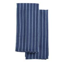 Набор кухонных полотенец сине-фиолетового цвета из хлопка из коллекции Essential, 50х70 см - Tkano