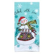 """Полотенце кухонное Kay Dee Designs махровое """"Рождественская история"""" 41х66см, хлопок (Снеговик) - Kay Dee Designs"""