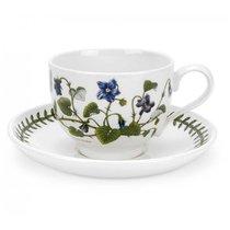 """Чашка чайная с блюдцем Portmeirion """"Ботанический сад.Фиалка"""" 280мл - Portmeirion"""