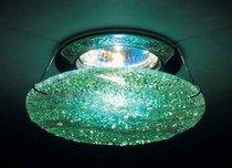 Стекло_Фьюзинг d 110 мм, толщина , толщина 5-6 мм. Цвет крошки - прозрачная, светло-зеленая и глухая - Donolux
