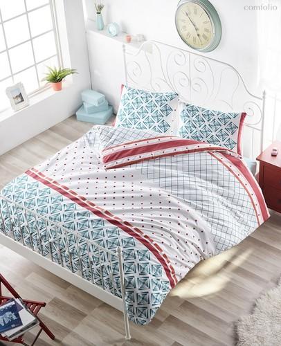 Постельное белье Ranforce Hera, цвет бирюзовый, размер 2-спальный - Karna (Bilge Tekstil)