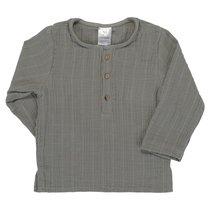 Рубашка из хлопкового муслина серого цвета из коллекции Essential 3-4Y - Tkano