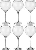 Набор бокалов для вина из 6 шт. CECILIA/CARDUELIS 640 МЛ ВЫСОТА=24 СМ (КОР=8Набор.) - Crystalite Bohemia