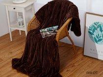 Плед Cleo ORRIZONTE 150/004-OT, цвет шоколадный, 150 x 200 - Cleo