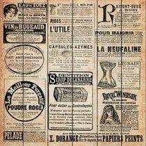 Старая газета 40х40 см, 40x40 см - Dom Korleone