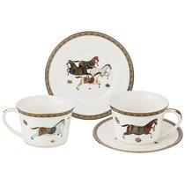 Кофейный Набор Лошадь На 2 Персоны 4 Пр. 180 мл - Kingensin Porcelain Industrial