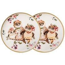 Набор Тарелок Закусочных Lefard Owls Party 2 Шт. 20,5 см