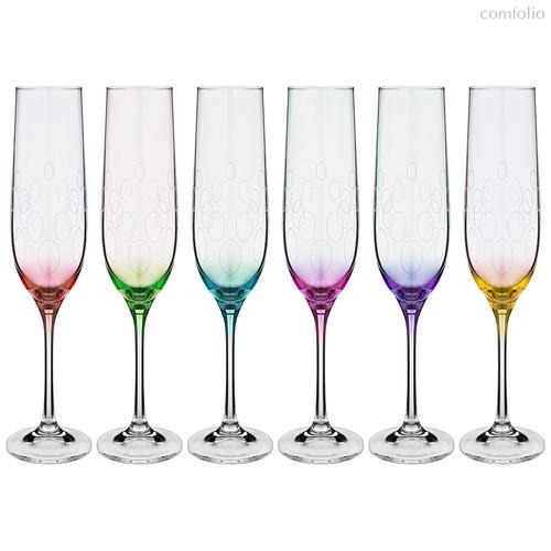 Набор бокалов для шампанского из 6 шт. VIOLA 190 мл ВЫСОТА 24 см - Crystalex