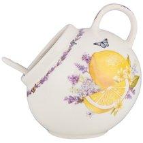 Солонка с ложкой lefard прованс лимоны в 10 см д 5 см - Lefard