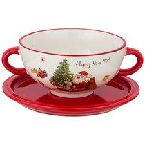 Бульонница С Новым Годом! 19x14x7 см / 650 мл - Huachen Ceramics