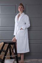 "Халат микрокотон ""KARNA"" BONAR (Белый), 3XL - Bilge Tekstil"