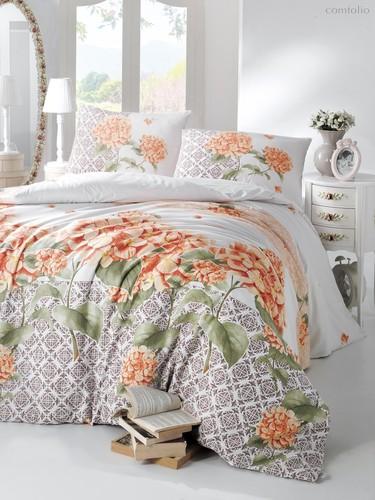Постельное белье Ranforce Larin, цвет оранжевый, размер 1.5-спальный - Altinbasak Tekstil