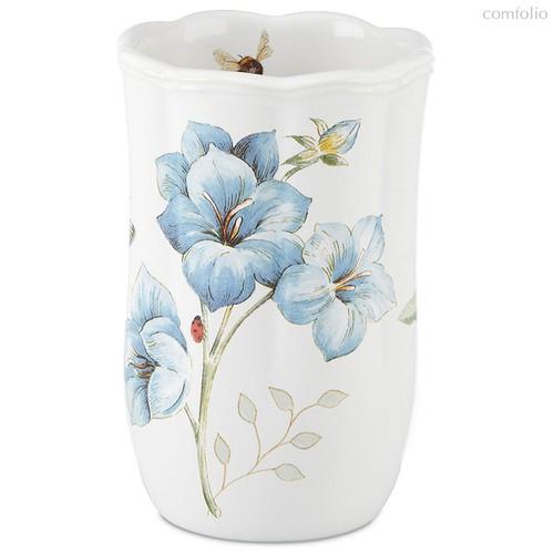 """Стакан для ванной комнаты Lenox """"Бабочки на лугу"""" 12см (голубой) - Lenox"""