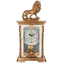 Часы Настольные Кварцевые Лев Цвет:Бронза 24, 5X11, 5X50 см - Shantou Lisheng