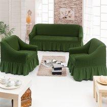 Чехол д/мягкой мебели 3-х пр.(3+1+1) JUANNA, цвет оливковый - Meteor Textile