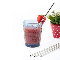Трубочки для напитков Eco 20шт. многоразовые, цвет серебряный - Koala